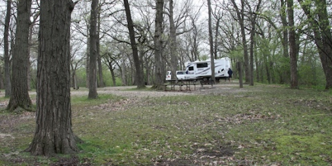 First Campsite!  Chain O Lakes State Park, Spring Grove, IL