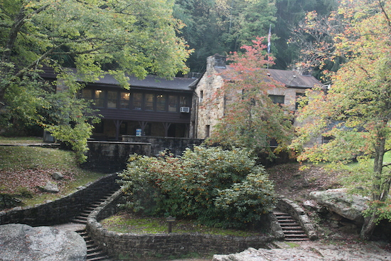 I Loved the old stone visitor center/ranger station/gift store/snack spot at Babcock State Park, adjacent to the Grist Mill as you drive in.