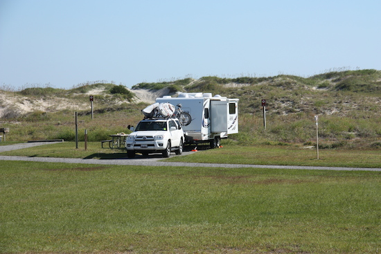Camped in the Oregon Inlet Campground
