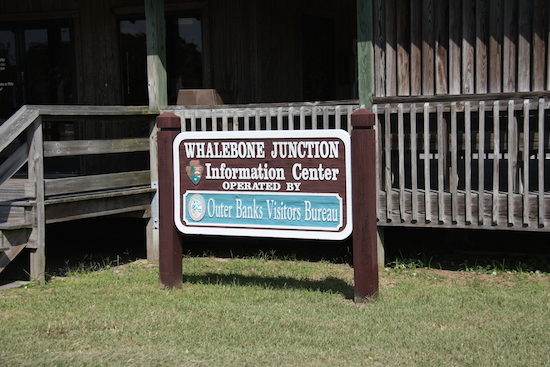 The visitor information center entering Cape Hatteras National Seashore