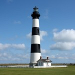 "Bodie Island Lighthouse - local lore says the island is pronounced ""body"" because of the bodies washing up on the beaches."