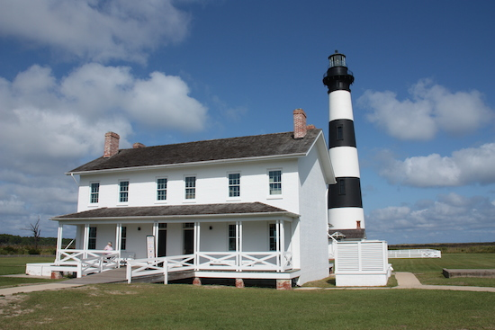 Bodie Island Lighthouse and the keepers station