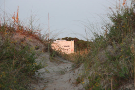 Looking the other way from the dune.