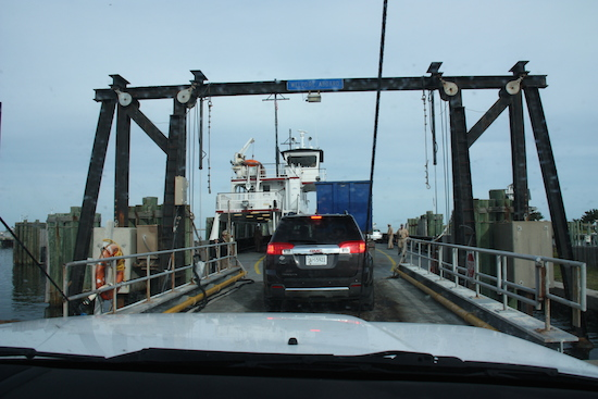 Driving onto the ferry was actually less stressful than thinking about driving onto the ferry towing our travel trailer.