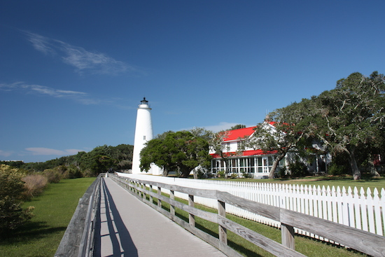 The Ocracoke Island Light Station is the oldest ... and smallest of the 5 Outer Banks lighthouses.