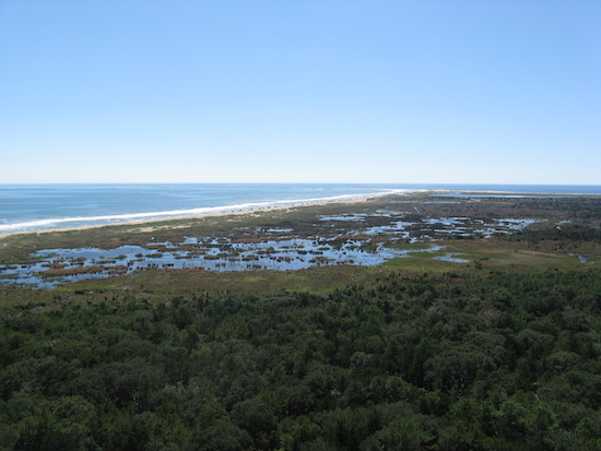 You can see the cape in the distance in this shot from the lighthouse.