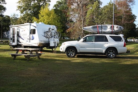 Our campsite, D-3, at Waters Edge RV Park