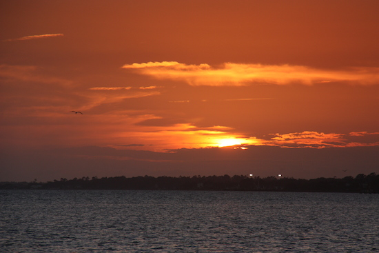 They weren't kidding about magnificent sunsets from the Waters Edge RV Park pier on Bogue Sound.