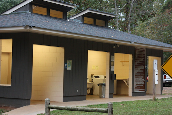 Laundry in a state park? And right at the showers? Cool!