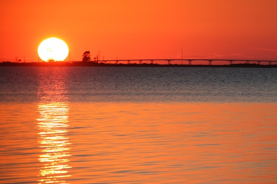 The lighthouse volunteer told us the best sunset on the island was down the nature trail (2 miles) off the end of the state park campground.