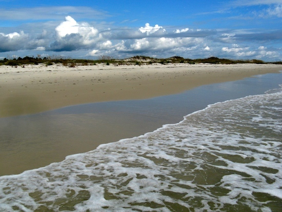 Just to the east, St George Island State Park's beaches didn't disappoint...