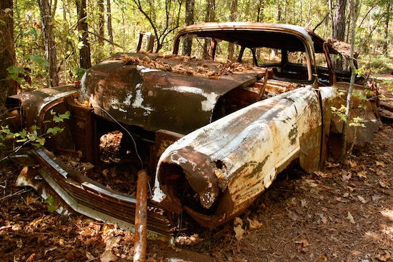 Originally there was a homestead in the area and several rusted out old vehicles now provide a home for small animals and critters.