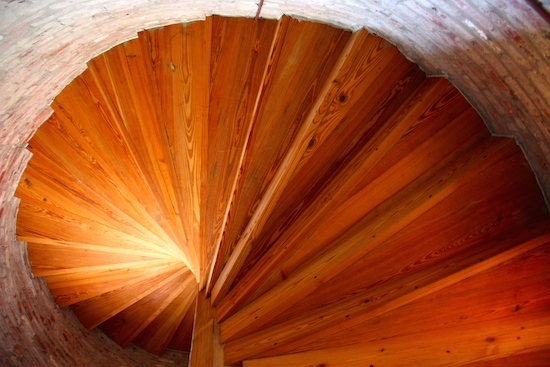 The wooden stairs are stunning - worth the climb just to see the stairs!