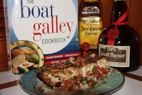 Margarita Grouper recipe in the Seafood Chapter of The Boat Galley Cookbook!