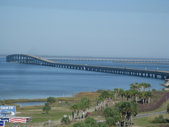 "The bridge from St George back to mainland - Apalachicola is the closest ""town""."