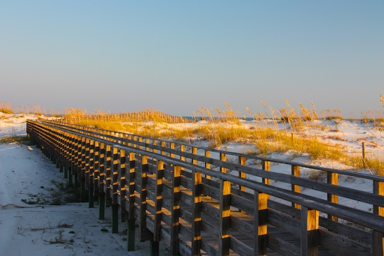 Headed to the beach, no problem, here's the walkway across the dunes.