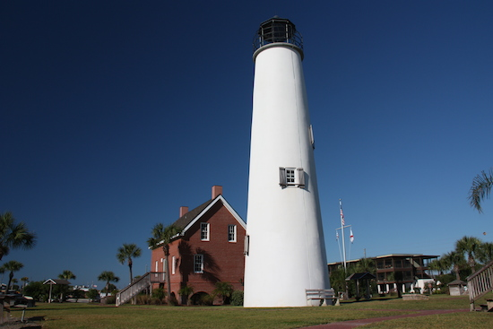 The restored Cape St George Island Lighthouse stands again!