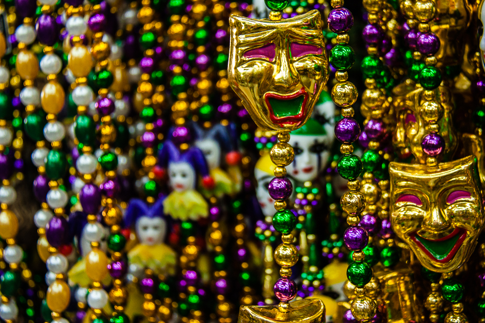 Mardi Gras Beads for sale everywhere