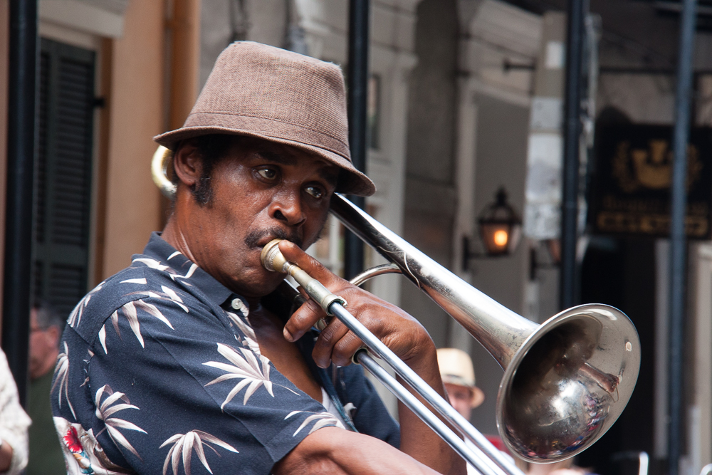 Loving the street music on Royal Street (one block south of Bourbon Street)