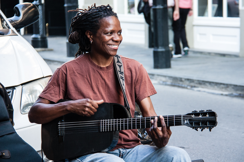Street Music on Royal St served with smiles!