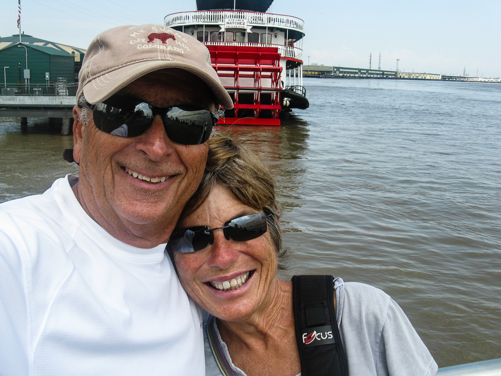 Selfie with the muddy meandering Mississippi