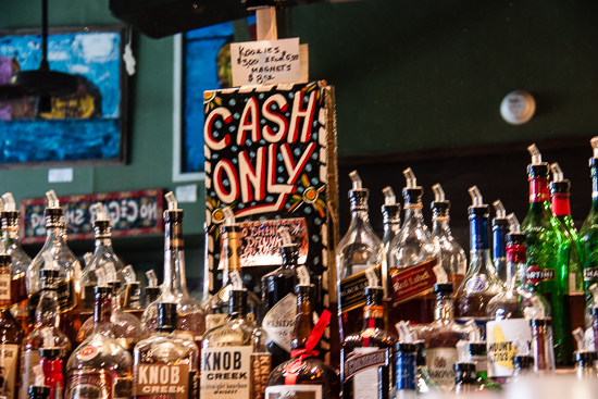 Whoever heard of a cash only bar?  How cool!