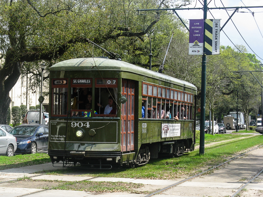 The St Charles Trolley line is the oldest continuously operating trolley line in the world... since 1835.  Hmmm....