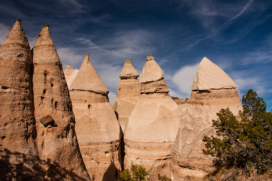 Tent Rocks occur only two places in the world. And one is Tent Rock National Monument, just north of Albuquerque.