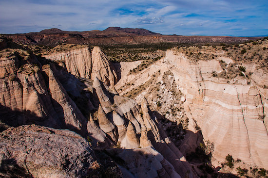 View from the top of Tent Rocks National Monument, Canyon Trail.