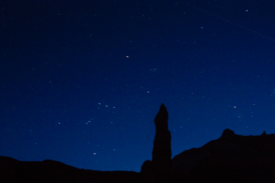 Kodachrome Basin Campsites snuggle under dark skies and incredible rock formations.