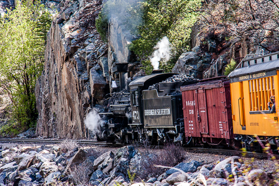 Durango almost to Silverton Steam Train.
