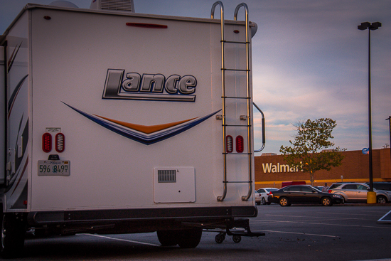 Camping at the world class WalMart Luxury RV Parks across Texas!