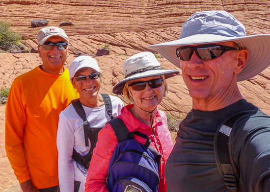 Snow Canyon Selfie ... seeing old friends is great, even though we haven't spent time together in 2 years, when we get together, we pick up right where we left off.