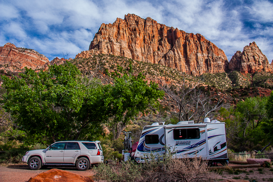 Speaking of great campsites, #56 in Watchman Campground, Zion Nat'l Park provides a spectacular view and privacy!  Wow!