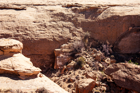 Jackson Staircase ... don't try climbing this - who knows how the Chacoans didn't fall off regularly?