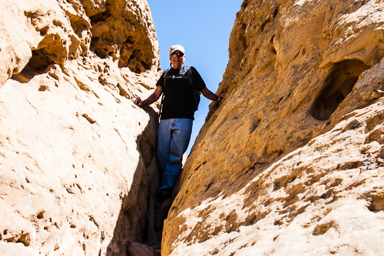Chacoans had to be small & nimble, as evidenced by one of their everyday staircases up the mesa.