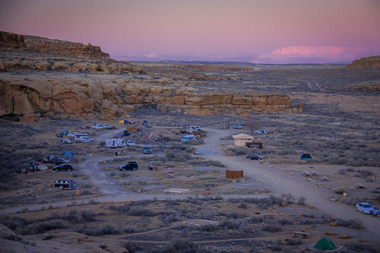 Gallo Campground at dusk