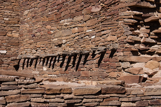 This wood is amazing - so much original wood still exists due to the extremely dry desert climate... imagine Chacoans put these wood posts here over 1000 years ago!