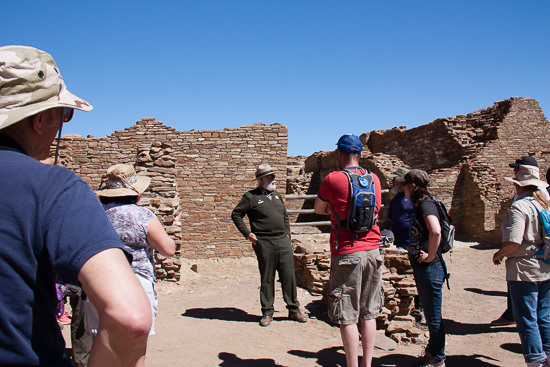 Ranger G.B. provides amazing interpretation and insight into the Chaco Culture.  He's also an expert on night skies astronomy.