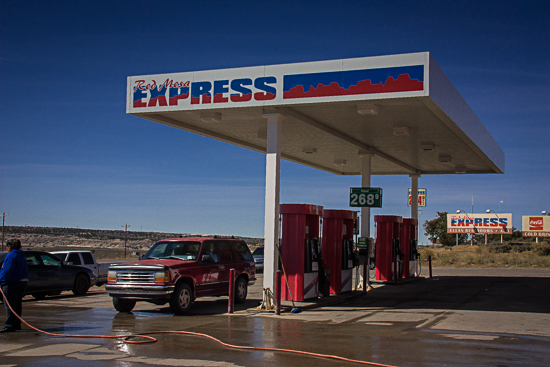 Express Gas was a welcome sight at the intersection of NM 550 and CR 7900