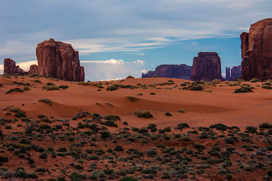 The coral sand dunes amongst the spectacular reservation scenery.