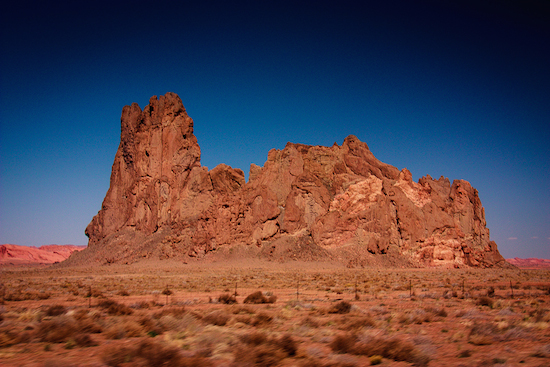 Scenery on the drive from Chaco Canyon to Monument Valley.