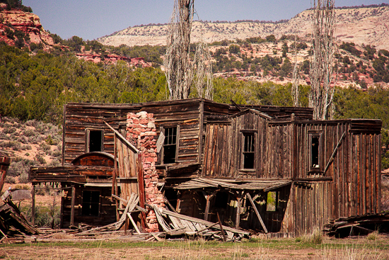 Deserted ghost town off Johnson Road outside of Kanab ... a movie set perhaps?