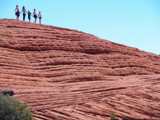 This family was enjoying Snow Canyon State Park. Photo Credit: Doug
