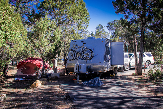 Mather Campground, Grand Canyon - didn't really need a reservation, but didn't know that.
