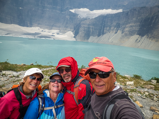 Couldn't help ourselves, had to take the infamous selfie in front of Grinnell Glacier.  :)