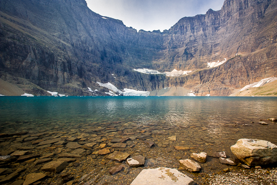 Iceberg Lake, the perfect place to have lunch and explore.