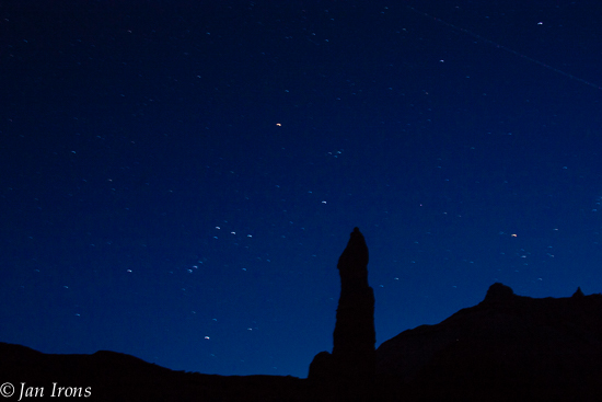 While playing with the camera we couldn't help but notice the dark starry sky above our campsite.