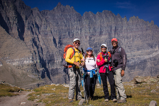 Joe, Neydie, Jan & David at Piegan Pass, Glacier National Park