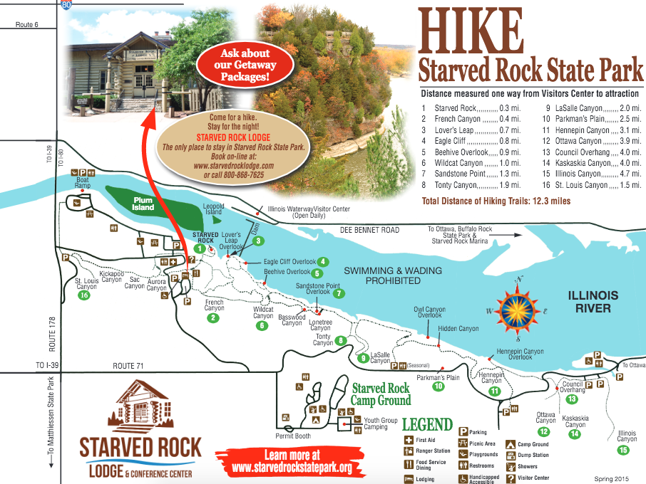 Starved Rock State Park Hiking Map
